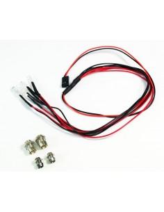Set LED rosu/alb cu suporti din aluminiu (4buc) Absima