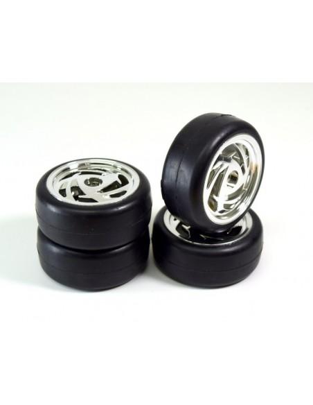 "Wheel Set Onroad ""Ronin"" Slick black 1:10 (4PCS)"