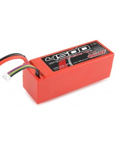Team Corally - Sport Racing 45C - 4500 mAh - 14,8V 4S - Competition Li-Po Battery Pack - Stick Hardcase (T-Plug) Connector