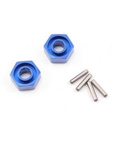 Set hex aluminiu Traxxas 12mm (Albastru/2buc)