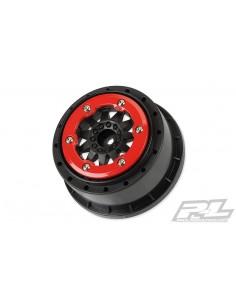 """Proline F-11 2.2""""/3.0"""" Red/Black Bead-Lock Wheels 2pcs"""