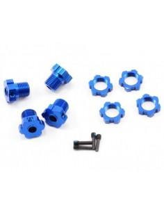 Traxxas 17mm Splined Wheel Hub Set (Blue/4pcs)
