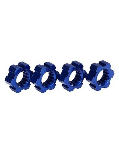 Set Hexuri Aluminiu Traxxas X-Maxx 24mm (Albastru/4 buc)