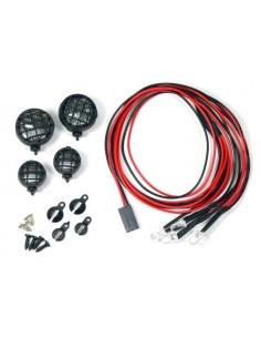 Kit LED (4buc/rotund) cu suporti Absima