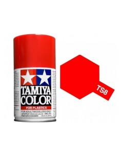 Spray Vopsea Acrylica Tamiya TS-8 Rosu (pentru plastic)