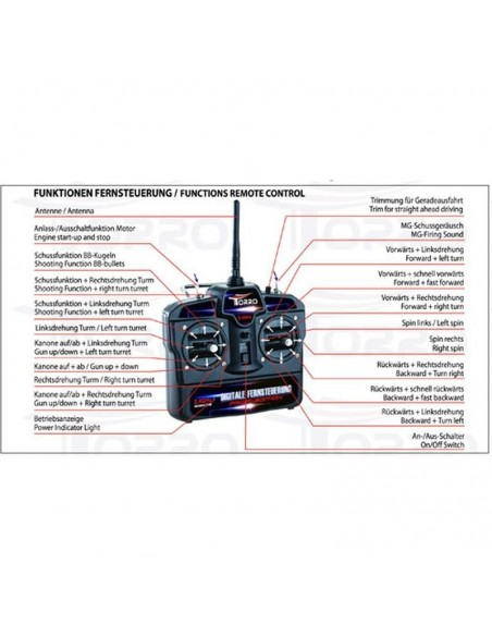 Tanc radiocomandat King Tiger 1/16 Pro Edition Metal 1/16