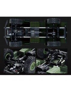 Camion militar Halfbed M16 Flak RTR 1:16