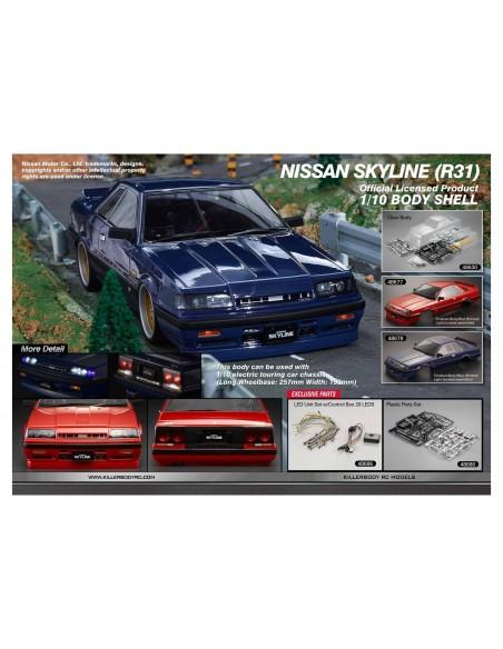 Caroserie KillerBody Nissan Skyline R31(Nevopsita/Full upgrade/195mm)