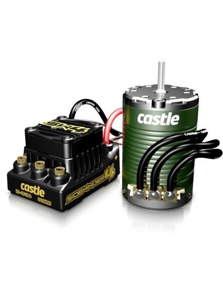 Combo Castle Creations SIDEWINDER 4 SENSORLESS cu Motor 3800KV SENSOR