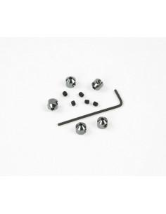 Set Opritori Aluminiu 2mm Robitronic (5 buc) Gri