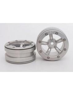 Set Jante Metalice METSAFIL cu Beadlock PT-Safari Argintiu/Argintiu 1.9 (2 buc)