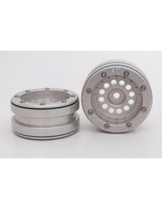 Set Jante Metalice METSAFIL cu Beadlock PT-Bullet Argintiu/Argintiu 1.9 (2 buc)