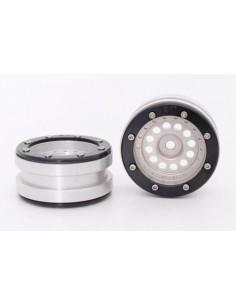 Set Jante Metalice METSAFIL cu Beadlock PT-Bullet Argintiu/Negru 1.9 (2 buc)
