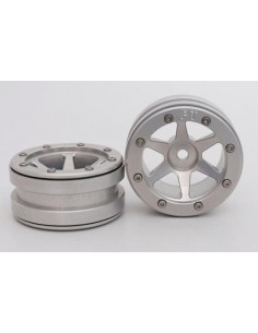 Set Jante Metalice METSAFIL cu Beadlock PT- Slingshot Argintiu/Argintiu 1.9 (2 buc)