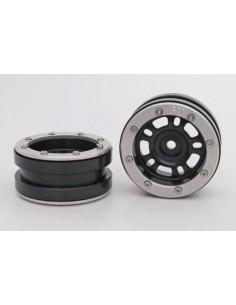 Set Jante Metalice METSAFIL cu Beadlock PT- Distractor Negru/Argintiu 1.9 (2 buc)