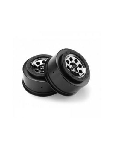 Set jante HPI MK.8 V2 SC(negru-crom/4.5mm offset/2buc)