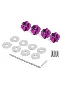 Set HPI ALUMINUM HEX HUB (CLAMP TYPE/MOV/4buc)