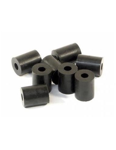 Tub cauciuc negru pentru amortizor 3x8x10mm (8 buc)