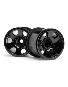 Set jante HPI Warlock Wheel Negre(2.2/2buc/Truck 1:10)