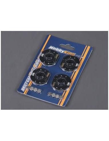 Set discuri cu LED pentru automodele 1/10 si hex 12mm(ROSU)