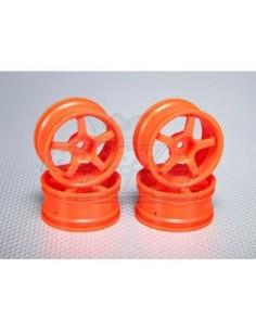 Set Jante 1:10 5-Spoke 26mm Orange (4 buc)