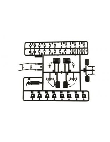 Set accesorii exterior AXIAL 1/10 (negru)