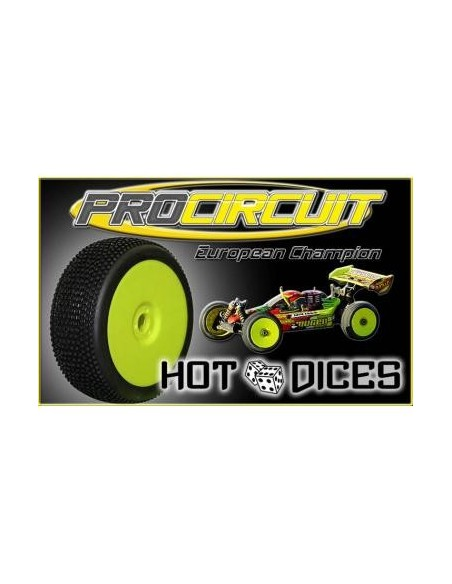Set roti complete Procircuit Hot Dices Buggy 1/8(Soft/4buc)
