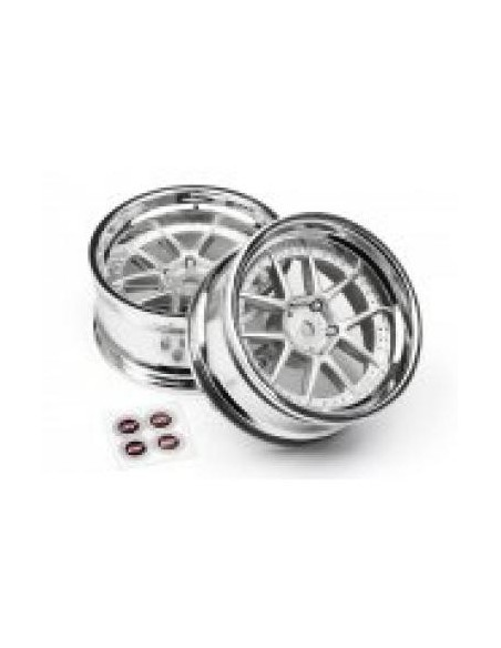 SET JANTE DY-CHAMPION 26mm (CROMATE/GRI/6mm OFFSET/2buc)