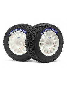 "Set roti Michelin Rally Off-Road  Montate pe Jante OZ(Albe/2buc/2.2"")"