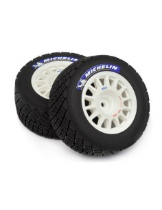 "Set roti Michelin Off-Road  Montate pe Jante OZ(Albe/2buc/2.2"")"