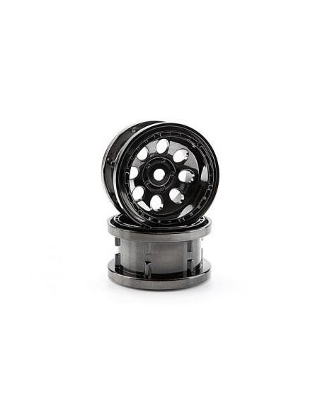 Jante ROCK 8 BEAD LOCK CROM NEGRU(55x36mm)