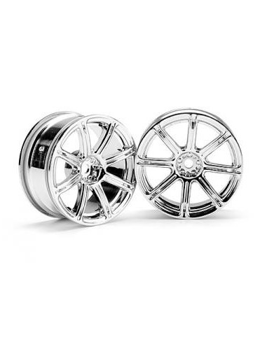 JANTE HPI WORK EMOTION XC8 26mm CHROME (3mm OFFSET)
