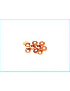 Saibe 3mm aluminiu Hiro Seiko (10buc/Orange)