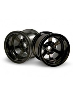 JANTE HPI SCORCH 6-SPOKE BLACK CHROME (2.2in/2buc)