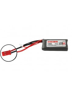 Acumulator Team Orion LiPo 1000 2S Softcase 7,4V 50C (JST)