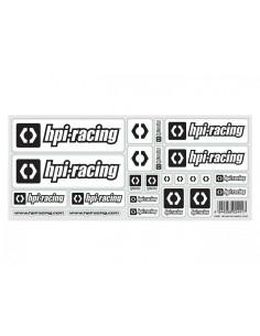 Autocolante HPI RACING (Alb)