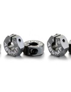 Set hex roata Aluminiu offset +0.75mm 1:10 (2buc)